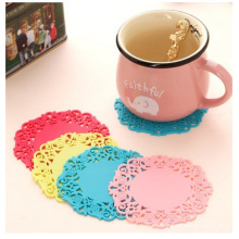 Muster-Spitze-Süßigkeits-Kaffeetasse-Matten-Wärmedämmungs-Schalen-Auflage
