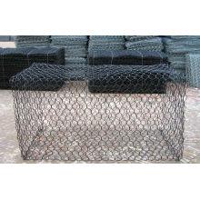 PVC Coated After Galvanized Gabion Mesh / Stone Cage / Gabion Box