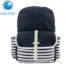 Stripe School Book Bag Backpack with Laptop Pocket Casual Daily Pack