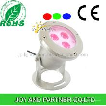 9W многоцветный светодиодный подводный прожектор с кронштейном (JP90036)