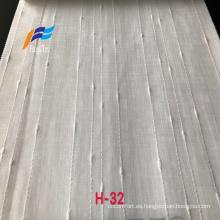 Tela de cortina ancha de gasa de poliéster 100% blanco liso