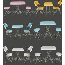 Home Furniture Portable Plastic Adjustable Height Folding Table (HQ-SJ32)