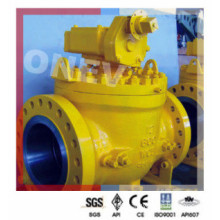 "Gear Operated Flange End Top Entry Ball Valve in 4"" Class 300"