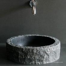 Black Natural Stone Marmor Waschbecken (Custom-Made Service andFactory Belieferung)