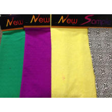 Tejido de punto jacquard de algodón colorido para tela de mujer