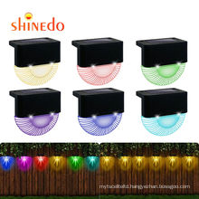 New Solar Step  Waterproof Lights for Outdoor Stairs, Step , Fence, Yard, Patio, and Pathway, Deck Garden RGB Lights