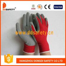 Красный нейлон с серой латексной перчаткой Dnl751