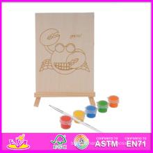 2014 New Play enfants en bois Kit de peinture, populaire bricolage enfants en bois Kit de peinture jouet, Kit de peinture éducative bébé jouet Set W03A048