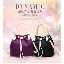 Popular Custom Made Women Handbag Drawstring Nylon Bag