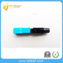 Ftth conector rápido de fibra óptica, rápido conector de montaje SC / UPC tipo de tornillo conector rápido
