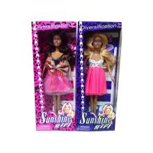 Nuevo producto 2015 juguetes muñeca de plástico negro muñeca Fahion