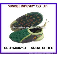 SR-12MA025-1 Los zapatos populares de la playa de los niños TPR suave de la playa de los zapatos plásticos de la playa calzan los zapatos que practican surf