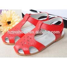 Soft crianças sólidas sandálias crianças sapatos a oca