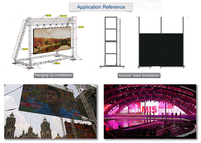 stage background curtain led display