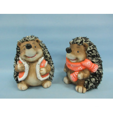 Hedgehog forma de artesanía de cerámica (LOE2531-C13)