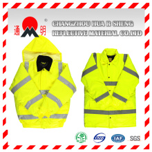 Red Reflective Vest with Reflective Strips (vest-1)