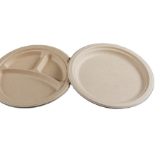 """6"""" biodegradable lunch plate,disposable sugarcane pulp white food container"""