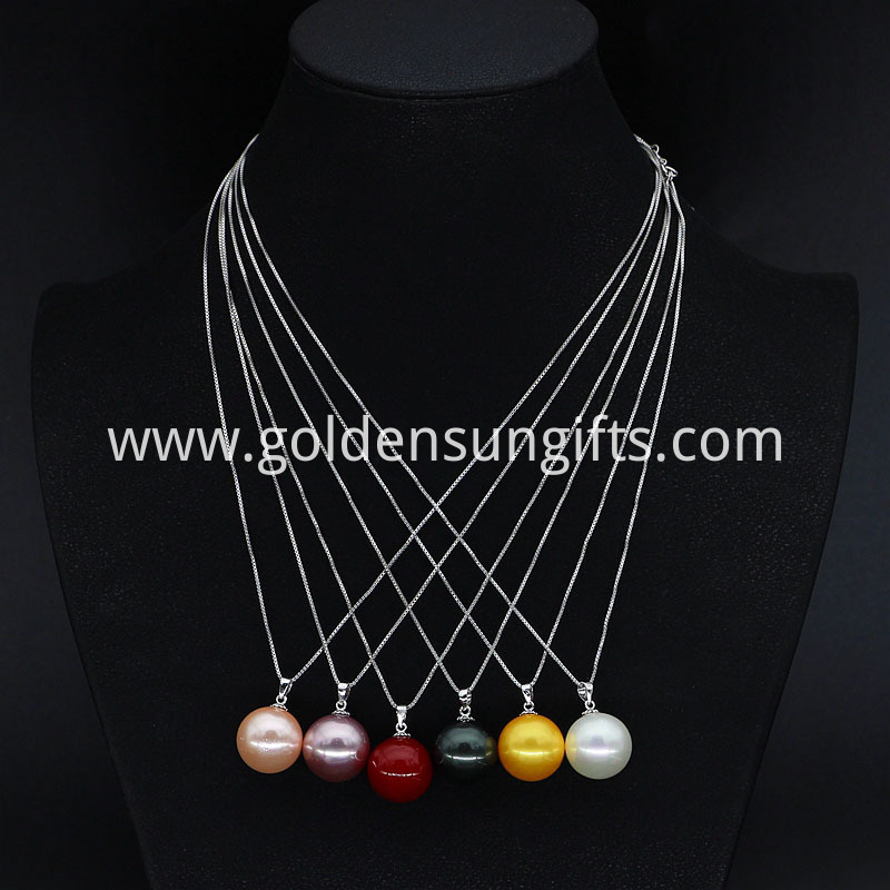 Colorful Shell Pearl Pendant Necklace