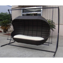 Outdoor Patio Double Chair Swing Bed Lounge