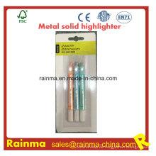 Metall Farbe Solide Highlighter für Schreibwaren