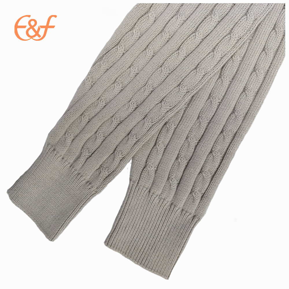Fashion Cable Knitted 100%Cotton Men Sweater