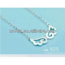 925 prata esterlina anjo colar de asas para meninas