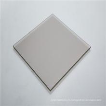 Feuille de polycarbonate solide de panneau mural gris brillant de 3 mm