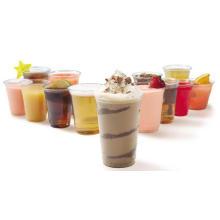 Copos descartáveis de plástico transparente para bebidas frias