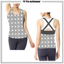 Preço de fábrica Roupas de ginástica Mulheres Tank Top Sport Wear Vest