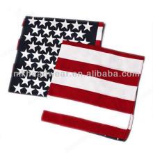 Fashion Cheap US Flag Custom Promotional Printing Cotton Square Bandanas