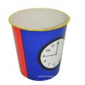 Plastic Clock Design Open Top Waste Bin for Home (B06-872)