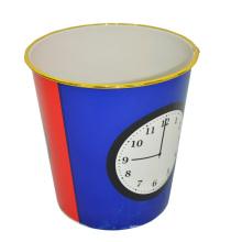 Дизайн пластиковых часов Открыть верхний мусорный ящик для дома (B06-872)