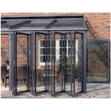 Nes Design Folding Type Double Glazed Aluminium Exterior Door
