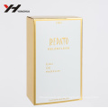 customized golden aluminum foil paper with UV matte vernish perfume packaging make up paper box