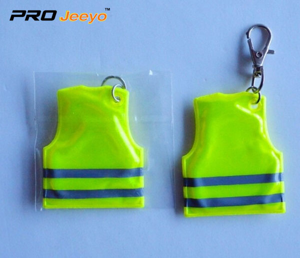 Mobile Phone Reflective Decorative Vest Key Chain RV-102 3