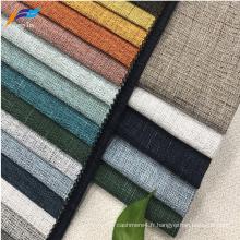 2019 nouveau tissu de canapé en lin d'ameublement écologique de conception