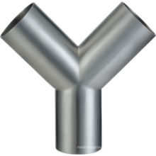 Stainless Steel SUS 304 316L 3A Tri-Clamp Y Type Sanitary Pipe/Tube Fitting Tee