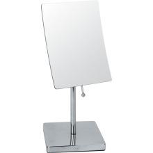 Quadratische Doppeltseite Metall Make-up-Spiegel