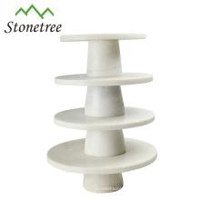 Eco-friendly marble round white fruit tray