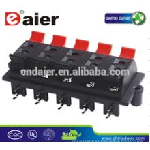 Daier WP10-03 8 vías Clip Spring Speaker Terminal Plate