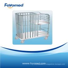 Chariot d'hôpital pour soins infirmiers à lit en inox à chaud