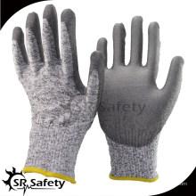 SRSAFETY упорная рабочая перчатка, покрытая PU, белые PU рабочие защитные перчатки