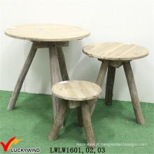Triângulo em forma de madeira extravagante mesa de café conjunto
