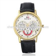Los productos más vendidos Vogue Cuarzo Colorido reloj de pulsera de cuero SOXY003