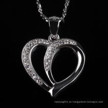 Para sempre amor coração forma moda pingente de colar de jóias para presente