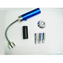 Waterproof magnetic battery powered aluminum mini led flexible torch