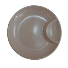 Melamine Round Plate/Dumpling Plate with Sauce Dish (QQ13810-08)
