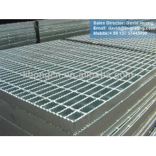 hot dip galvanized serrated grating, galvanized steel flat bar grating
