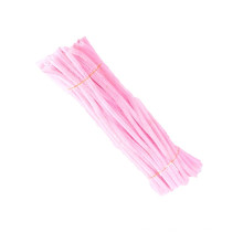 Wholesale educational toys 30cm colored diy pipe cleaner fluffy sticks chenille stem for kids