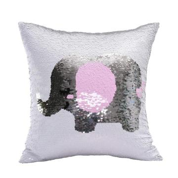ELEPHANT REVERSIBLE SEQUIN PILLOW-0